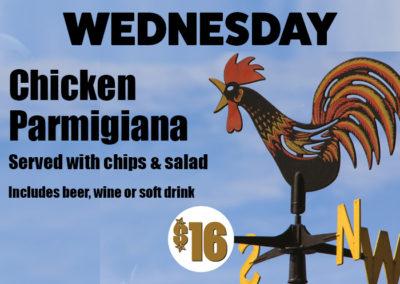 Wednesday Parma and Trivia Night