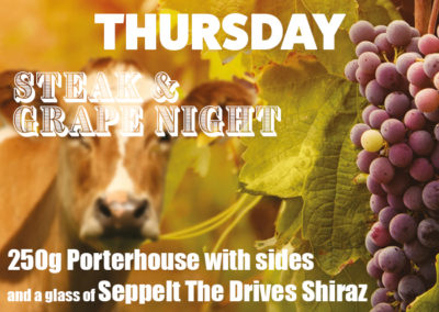 Thursday Steak & Grape Night