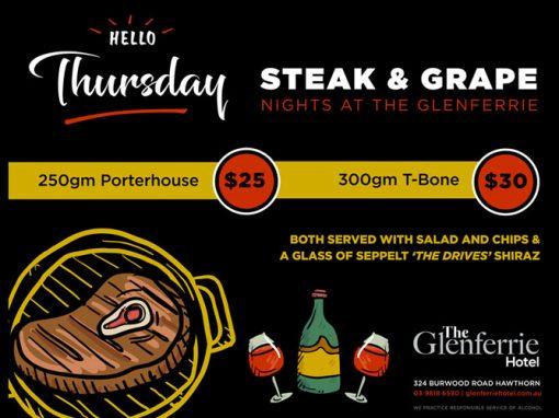 Thursday Steak & Grape Night