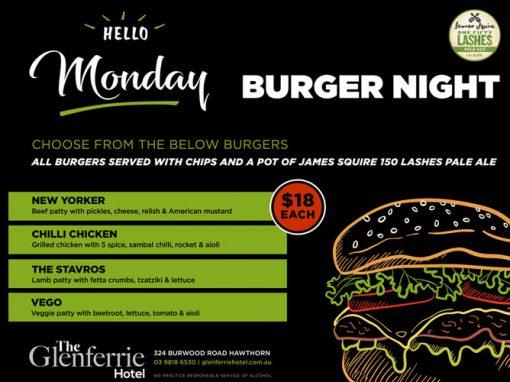 Monday Burgers