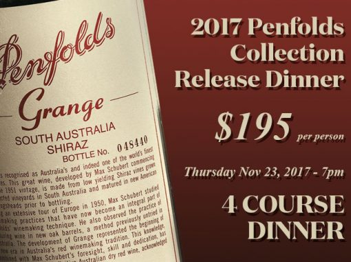 2017 Penfolds Collection Release Dinner