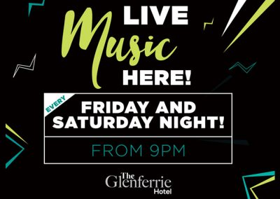 Live Music – Friday and Saturday Night