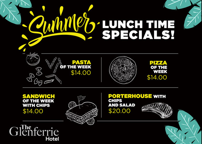 glenferrie summer lunch specials