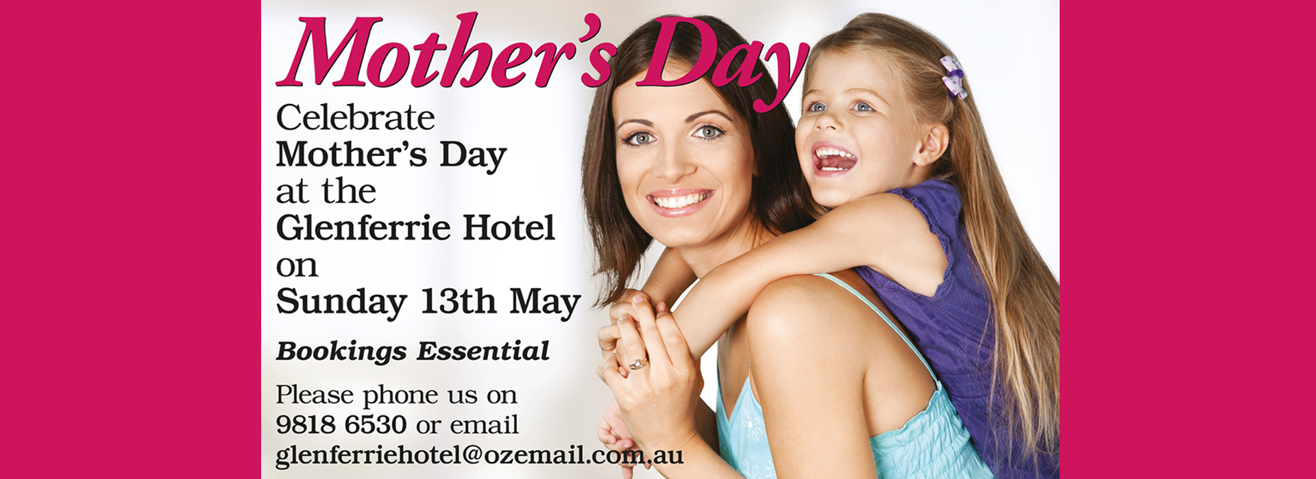 glenferrie hotel mothers day