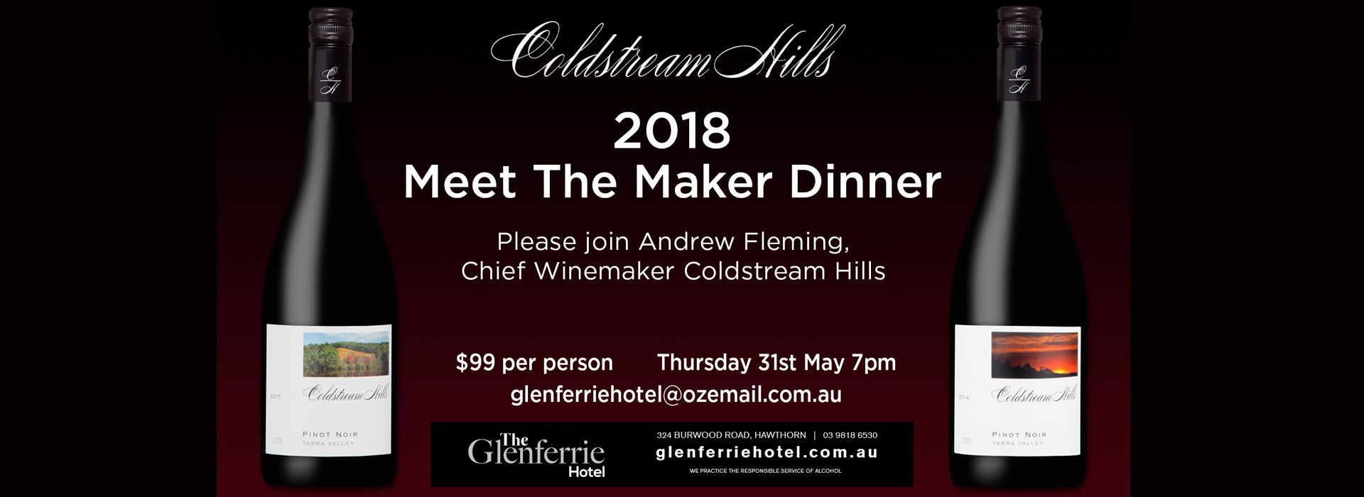 Coldstream wine tasting at The Glenferrie