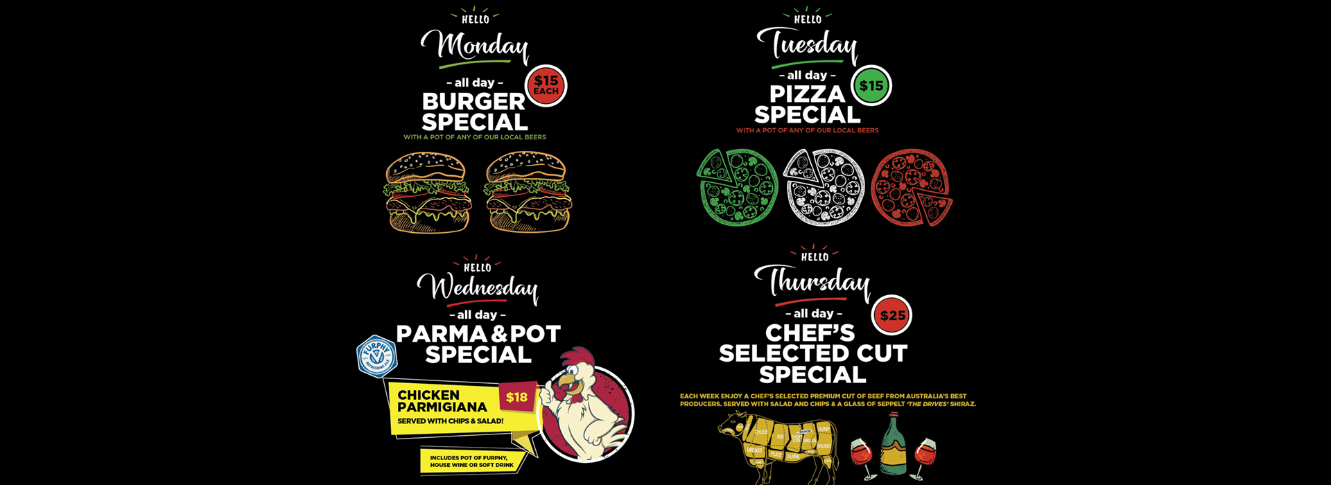 all day meal specials at the glenferrie
