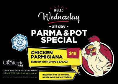 Wednesday Parma and Pot Night