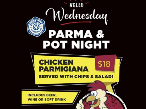 Wednesday Parma and Pot Night