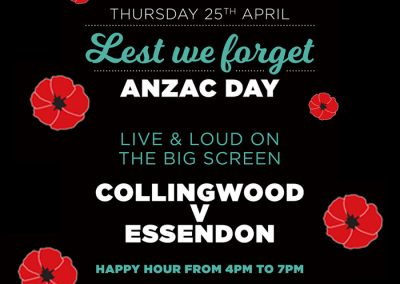 Anzac Day at the Glenferrie
