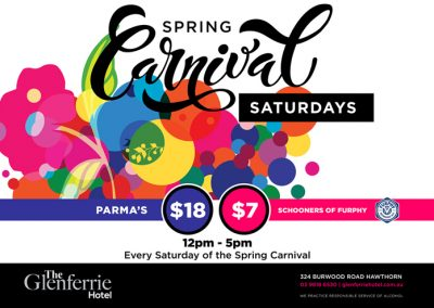 Spring Carnival at the Glenferrie Hotel