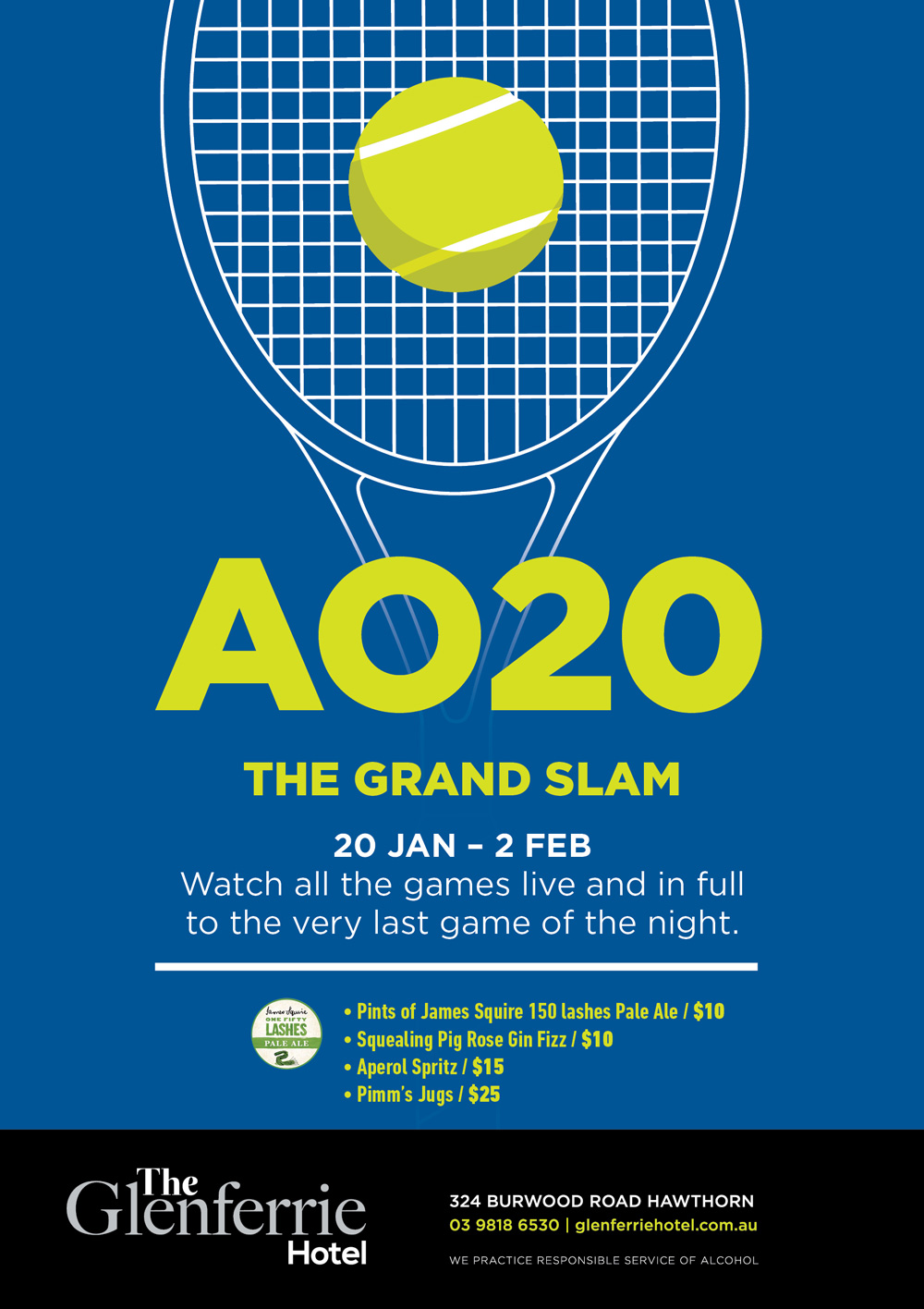 A020 Grand slam at Glenferrie Hotel